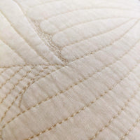 Brandream Beige Palm Quilted Pillow Shams King Size Set of 2 100% Cotton Decorative Pillow Covers