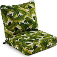 South Pine Porch AM7820-MARLOW Marlow Blue Floral 2-Piece Outdoor Deep Seat Cushion Set