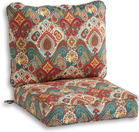 South Pine Porch AM7820-BALTIC Baltic Paisley 2-Piece Outdoor Deep Seat Cushion Set