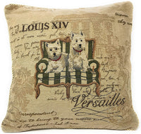 "Tache 2 Piece 18"" X 18"" Square Vintage French Royal Pawness Decorative Accent Cushion Throw Pillow Cover Set"