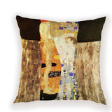 Colorful Klimt Painting Cover Cushion Abstract Portrait Woman Home Decor Pilow Cover Vintage Living Room Cushion Covers 40\X2A40