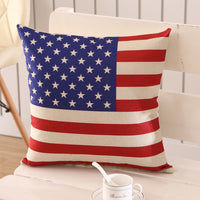 45 *45cm Blend Linen Throw Pillow Covers Colorful Cases Bedroom Decorative Vintage UK USA Flag Cheap Cushion Covers union jack