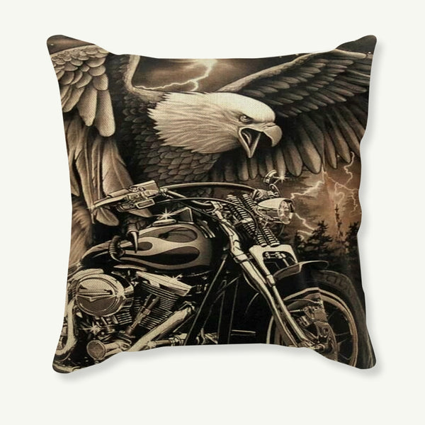 45x45cm Pillowcase Vintage Motorcycle Decorative Cushion Cover Retro Pillow Case Sofa Car Linen Cotton Cushion Cover Home Decor