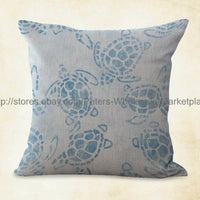 4pcs pillow covers for couch cushion covers marine