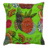 "Vintage 16"" INDIAN CUSHION BED PILLOW COVERS THROW Ethnic Fruit Kantha Decor"