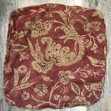 Vintage Red Burgundy Paisley Zip Closure Pillow Covers (4) 18x18 Rounded