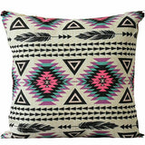 Decor Geometric Cushion Pillow Decoration Linen Cotton Home Cover Bohemian Case