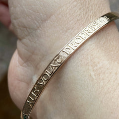 Solid Gold Motivational Posey Bangle - Alis Volat Propriis