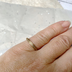 Solid gold plait ring hand made