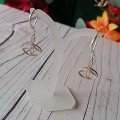 Small Solid Silver Sacred Geometry Earrings