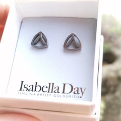 Small Solid Silver Sacred Geometry Studs