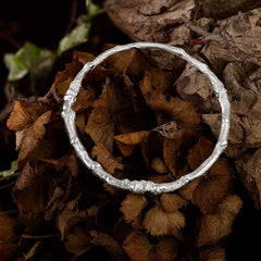 Oak Twig Bangle | Isabella Day is an award winning Artist Goldsmith