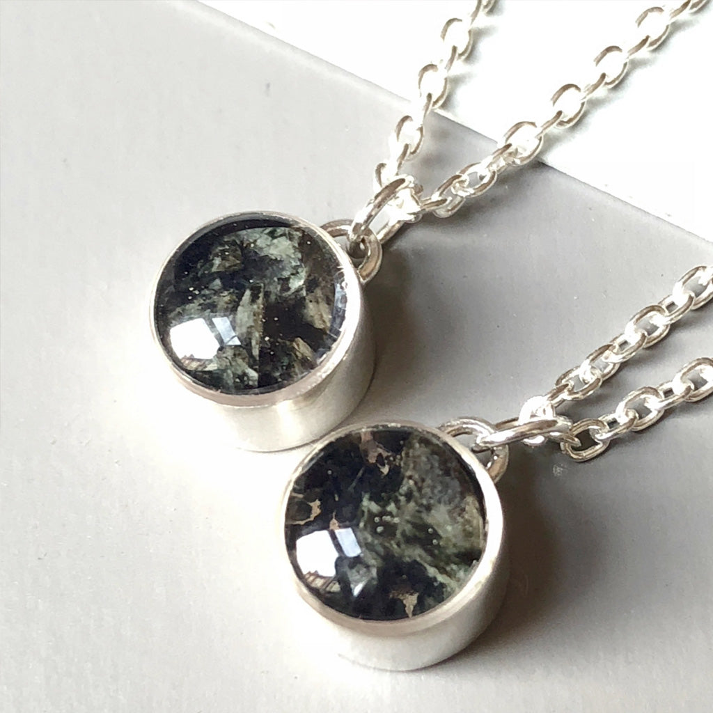 Sliver Stonehenge Necklace Smashed Bluestone Necklace