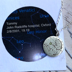 Constellation custom Star map pendant