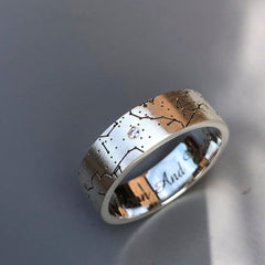 Custom Men's Star Map Engagement Ring