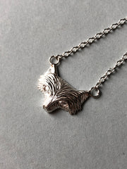 Solid Silver Sly Fox Necklace