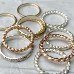 Solid gold rings hand made devon