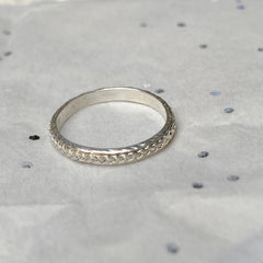 Solid silver plait ring hand made