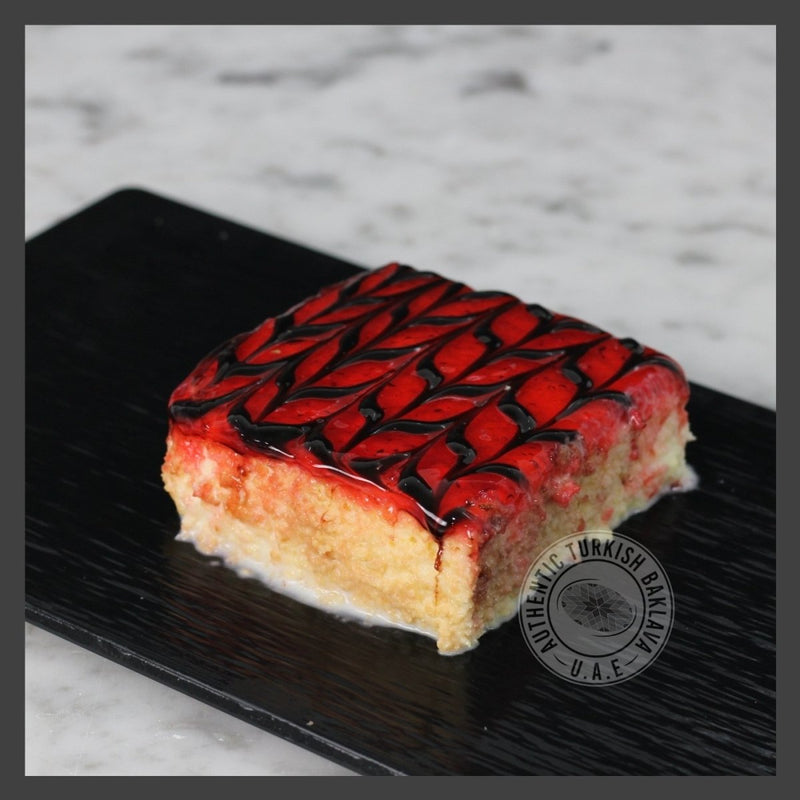 Trilece (Milk Cake) Strawberry - Authentic Turkish Baklava