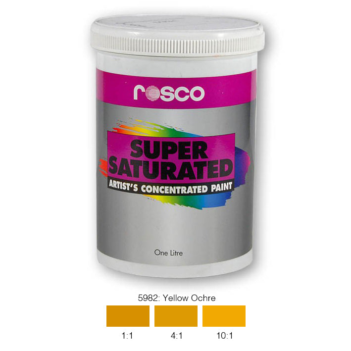 Rosco Supersaturated Scenic Paint - 5982 Yellow Ochre 1L