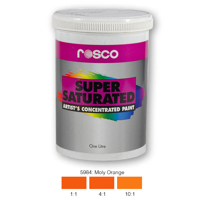 Rosco Supersaturated Scenic Paint - 5984 Moly Orange 1L