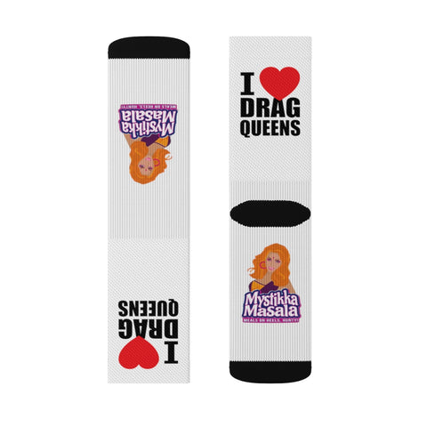 """I LOVE DRAG QUEENS"" SPORTS SOCKS"
