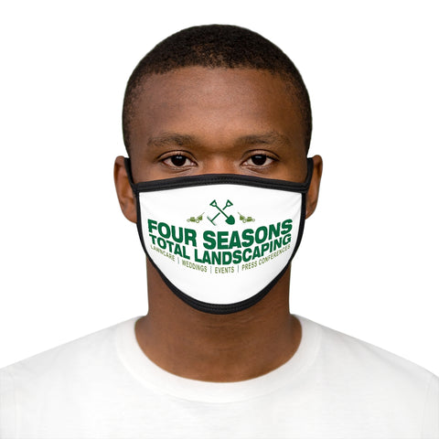"""FOUR SEASONS TOTAL LANDSCAPING"" PARODY Mixed-Fabric Face Mask"