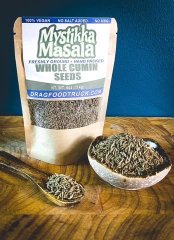 CUMIN SEEDS (WHOLE SEEDS) - 4oz - Resealable Bag