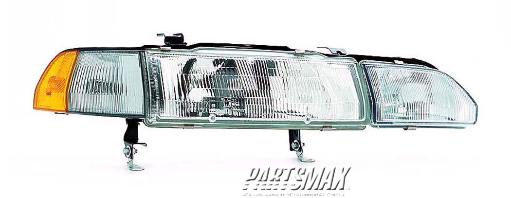 001160 | RT Headlamp assy composite; includes marker & fog lamp for a 1990-1993: ACURA, INTEGRA