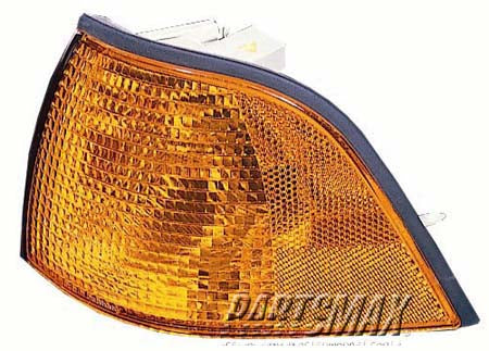 001276 | RT Parklamp assy; 2dr coupe; park/signal combination for a 1992-1999: BMW, 318i
