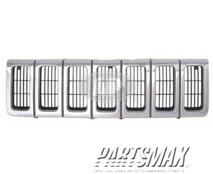 000860 | Grille assy; Grand Cherokee; bright & black & silver for a 1996-1998: JEEP, GRAND CHEROKEE