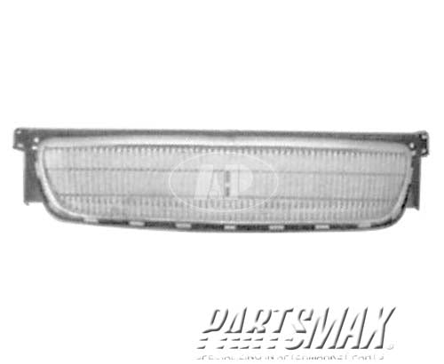 000860 | Grille assy; bright & black for a 1996-1997: CHRYSLER, TOWN & COUNTRY