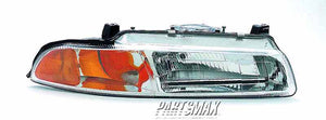 001160 | RT Headlamp assy composite; standard beam pattern for a 1995-1996: DODGE, STRATUS