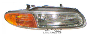 001160 | RT Headlamp assy composite; convertible for a 1996-2000: CHRYSLER, SEBRING