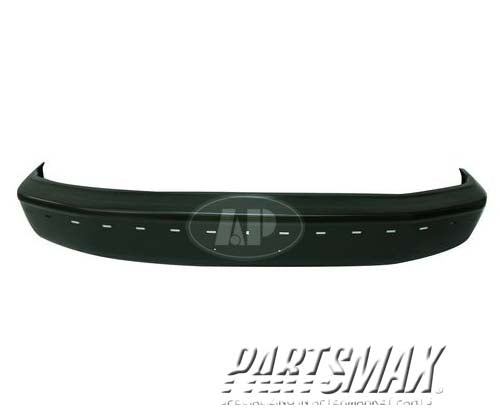 000260 | Front bumper face bar; gas; except Lightning; w/impact strip; black for a 1992-1996: FORD, F-150