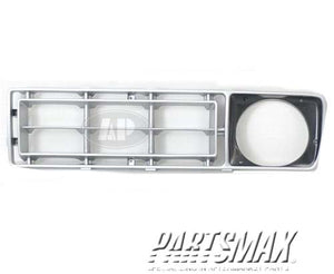 000860 | Grille assy; left; argent for a 1976-1977: FORD, F-150