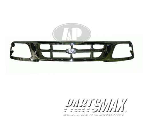 000860 | Grille assy; w/bright trim for a 1997-1998: FORD, F-150