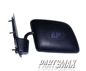 001700 | LT Mirror outside rear view; manual foldaway paddle; black for a 1994-2000: FORD, E-150 ECONOLINE