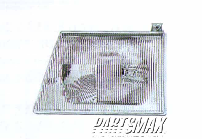001150 | LT Headlamp assy composite; L/GL; includes parklamp for a 1992-1995: FORD, TAURUS