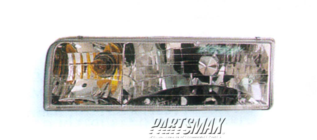 001150 | LT Headlamp assy composite; all for a 1995-1997: LINCOLN, TOWN CAR