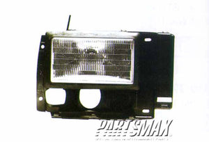 001160 | RT Headlamp assy composite; all for a 1989-1992: FORD, RANGER