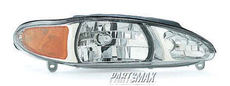 001160 | RT Headlamp assy composite; 4dr sedan/4dr wagon for a 1997-1999: MERCURY, TRACER
