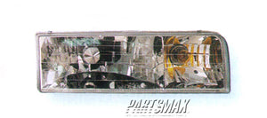 001160 | RT Headlamp assy composite; all for a 1995-1997: LINCOLN, TOWN CAR