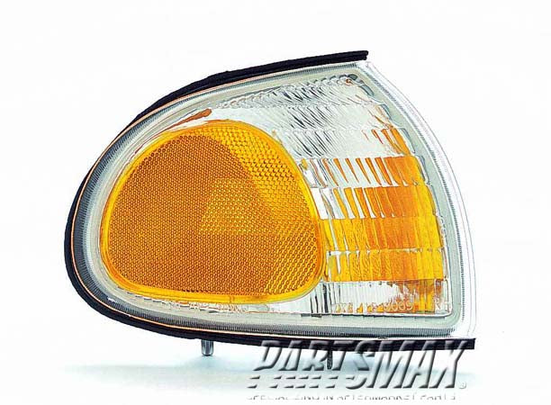 001390 | RT Front marker lamp assy; marker/signal combo; clear & amber for a 1995-1996: FORD, WINDSTAR