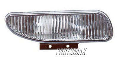 001610 | RT Fog lamp lens; base/GT/Mach I; rectangular for a 1994-1998: FORD, MUSTANG