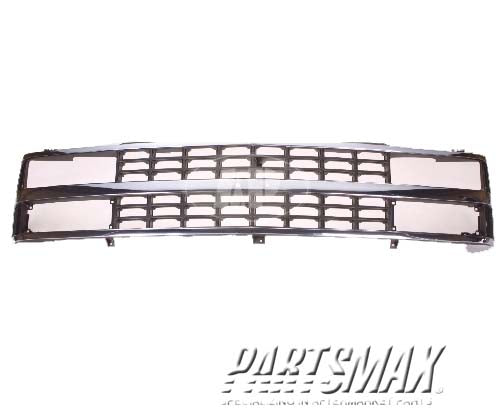 000860 | Grille assy; C/K; w/composite headlamps; bright for a 1988-1993: CHEVROLET, C1500
