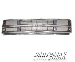 000860 | Grille assy; late design; bright & silver & gray; w/composite headlamps for a 1996-2002: CHEVROLET, EXPRESS 1500