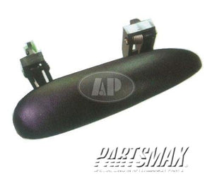 001690 | RT Front door handle outer; smooth black - paint to match for a 1995-2005: CHEVROLET, CAVALIER