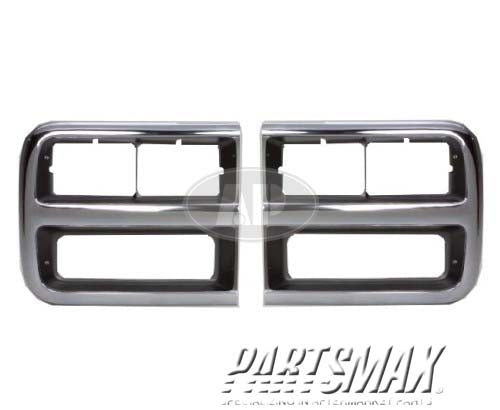 001220 | LT Headlamp door; through early 1996; w/quad rectangular headlamps for a 1992-1995: CHEVROLET, G10
