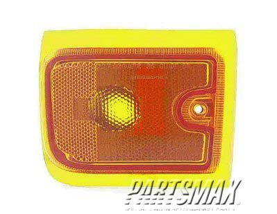 001390 | RT Front marker lamp assy; new design; w/composite headlamps; 2-piece design; lower for a 1996-2002: GMC, SAVANA 1500